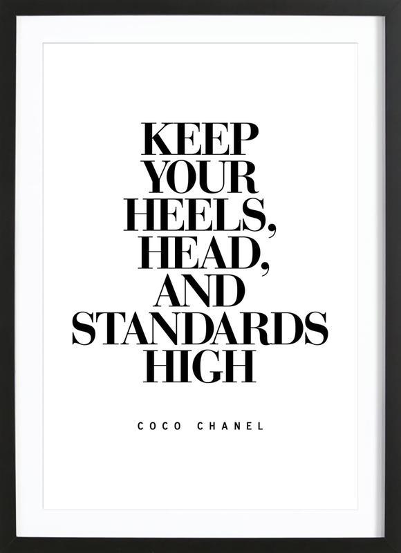 Keep Your Heels -Bild mit Holzrahmen