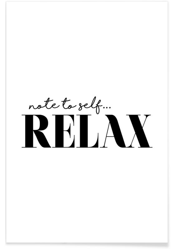 Note To Self Relax -Poster