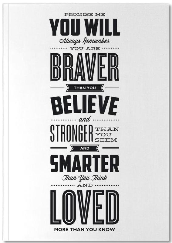 Black & White, Motivational, Quotes & Slogans, Promise Notebook