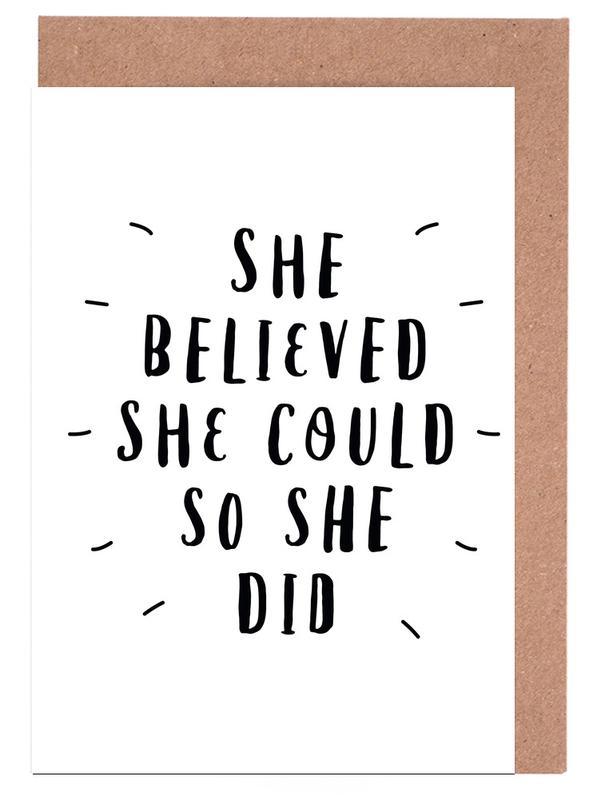 She Believed cartes de vœux