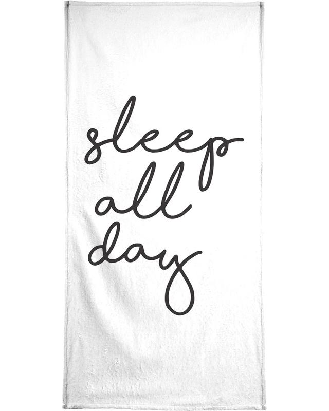 Sleep All Day -Handtuch