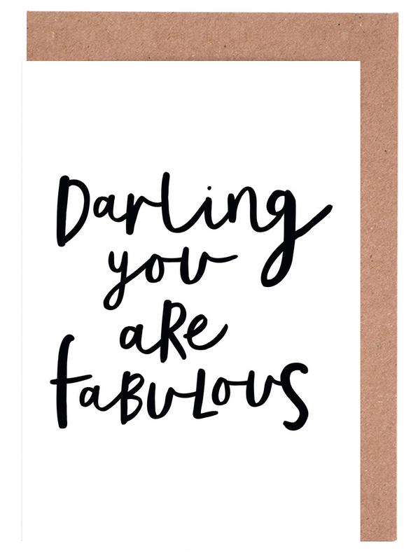 Darling You Are Fabulous Greeting Card Set