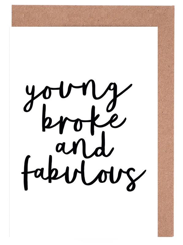 Young Broke And Fabulous cartes de vœux