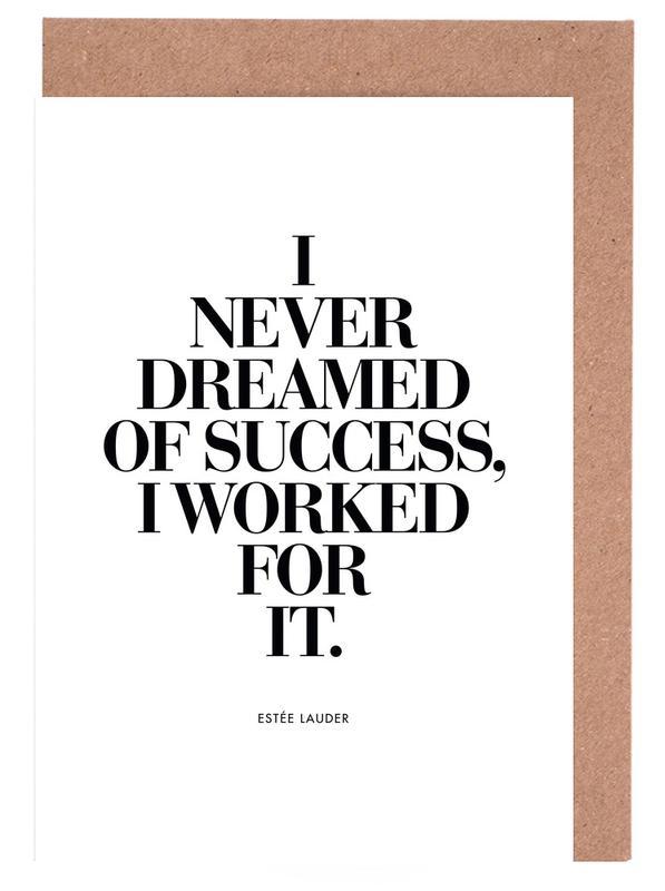 Dreamed Of Success -Grußkarten-Set