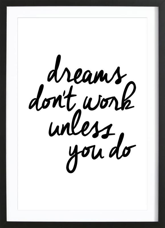 Dreams -Bild mit Holzrahmen