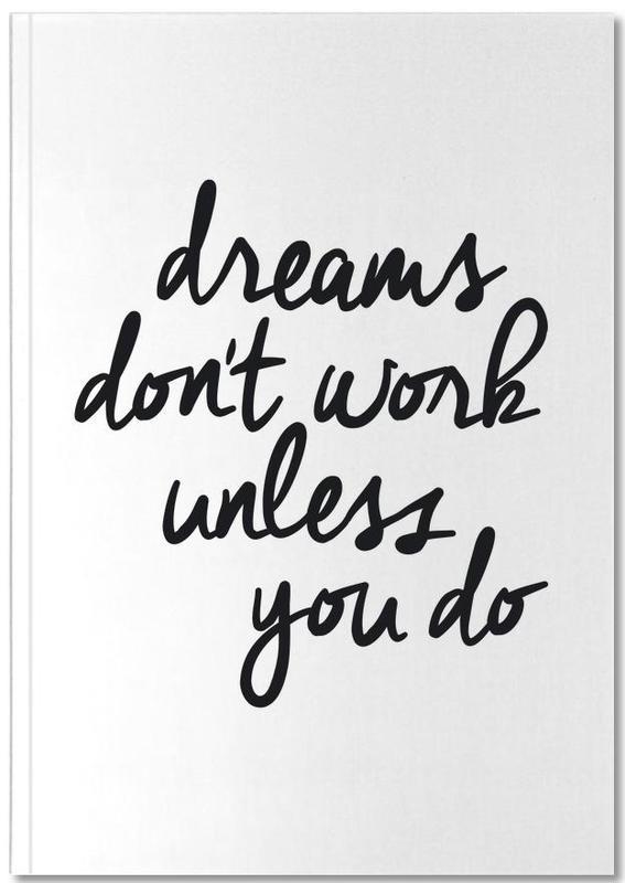 Quotes & Slogans, Black & White, Congratulations, Motivational, Dreams Notebook