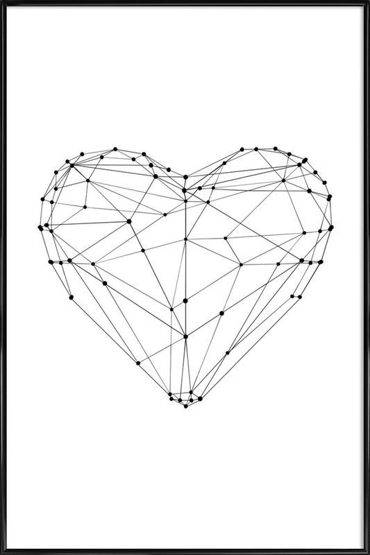 Geo Heart ingelijste poster
