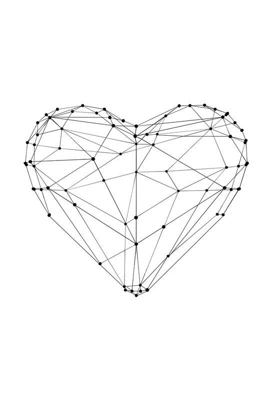 Geo Heart Aluminium Print