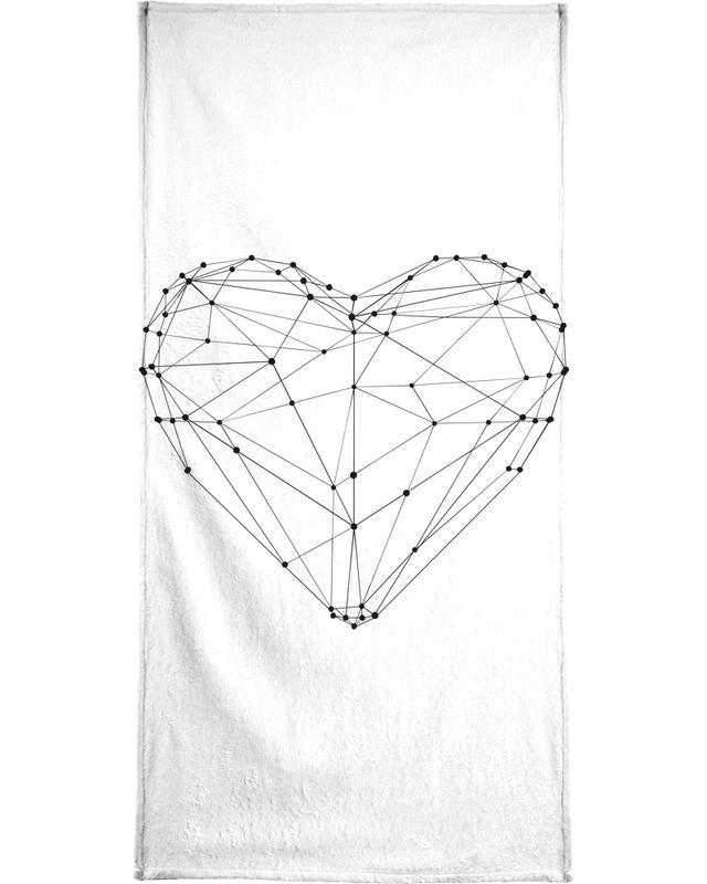 Geo Heart -Handtuch