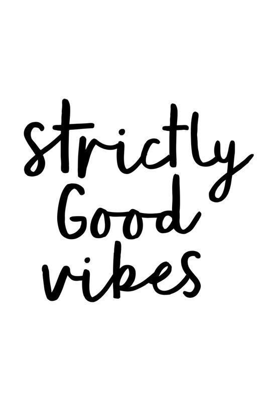 Strictly Good Vibes Aluminium Print