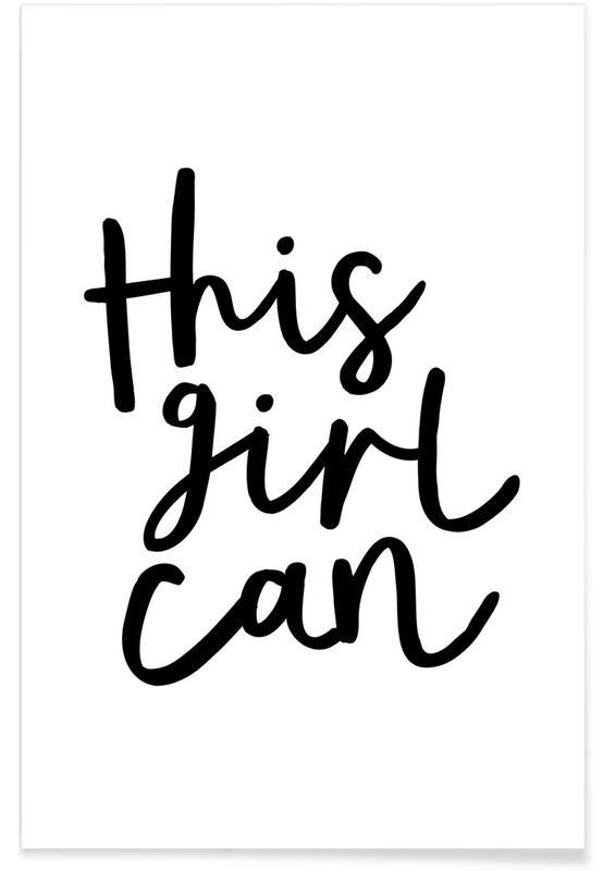 Zwart en wit, Quotes en slogans, Felicitaties, This Girl Can poster