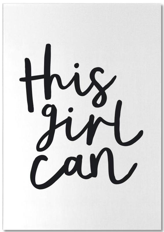 Congratulations, Black & White, Quotes & Slogans, This Girl Can Notepad