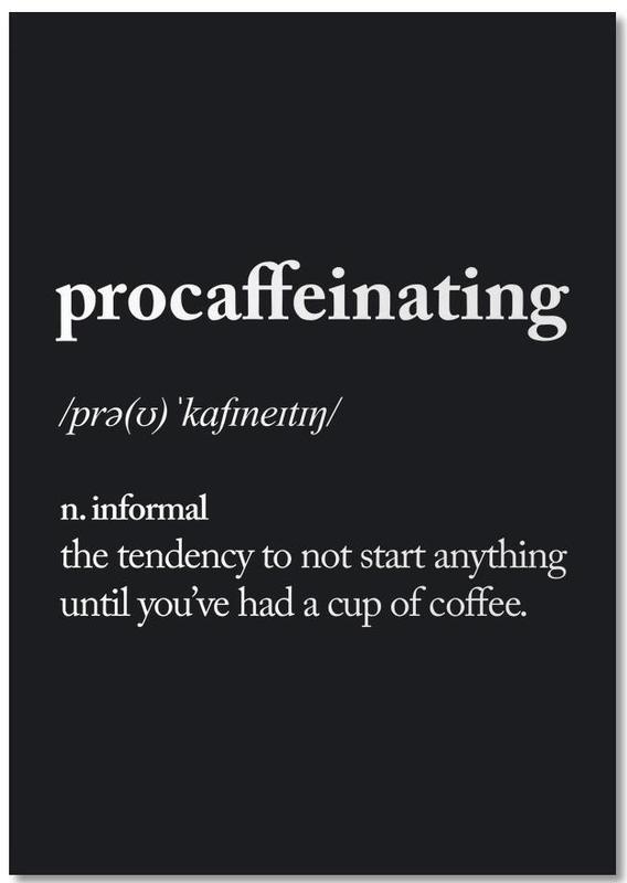 Procaffeinating -Notizblock