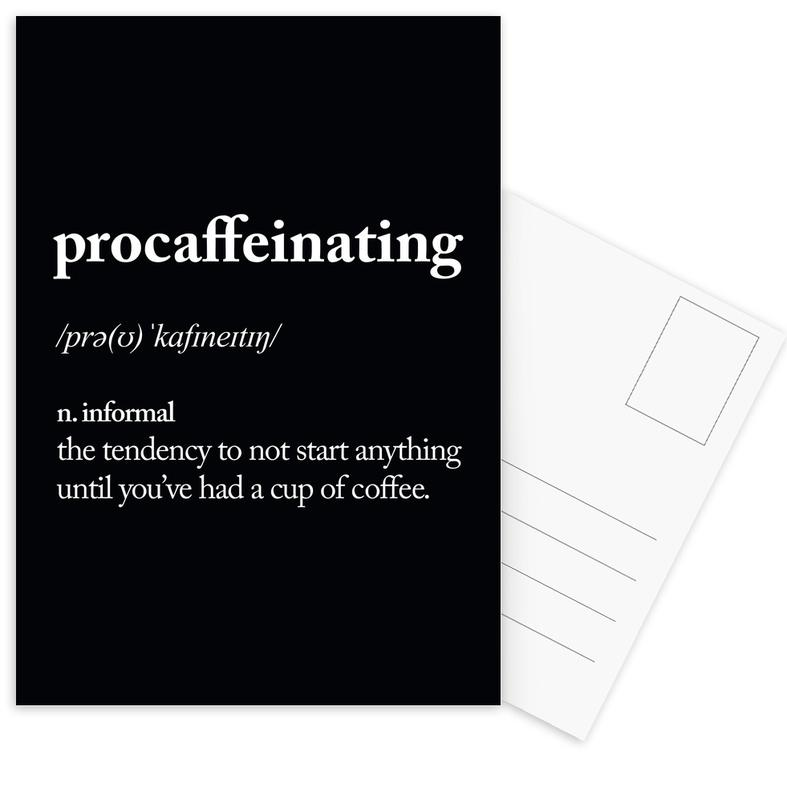 Procaffeinating Postcard Set
