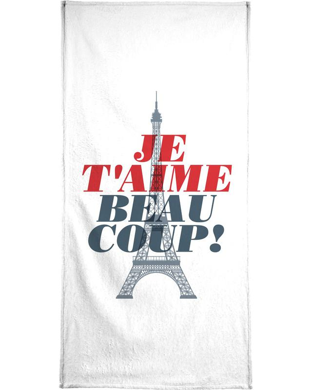 Je t'aime beaucoup -Handtuch