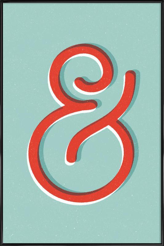 Ampersand -Bild mit Kunststoffrahmen