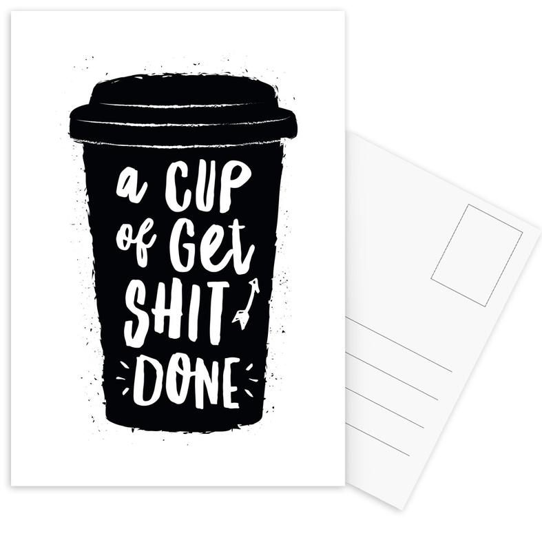 A Cup of Get Shit Done cartes postales