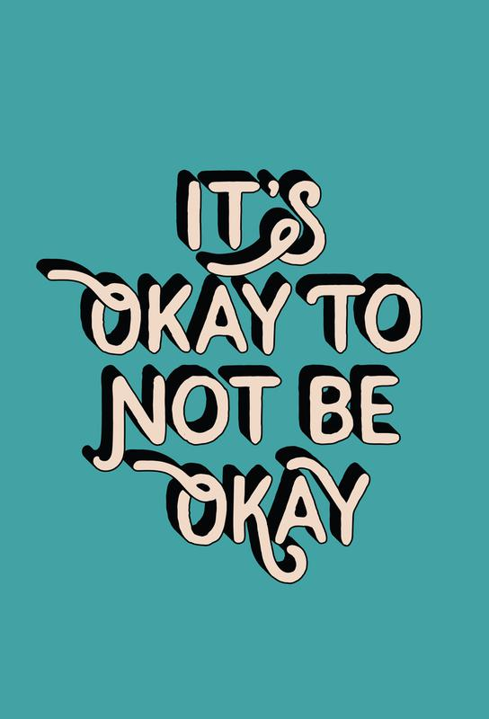 It's Okay to Not Be Okay tableau en verre