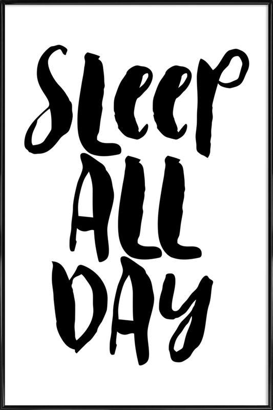 Sleep All Day affiche encadrée