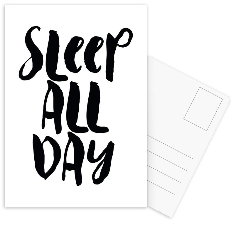 Sleep All Day cartes postales