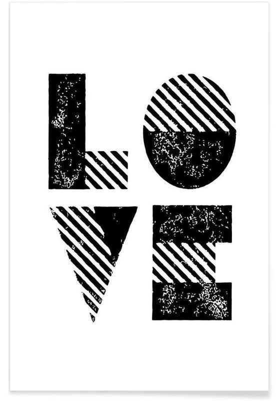 Noir & blanc, Citations et slogans, Love affiche