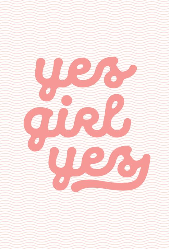 Yes Girl Yes tableau en verre