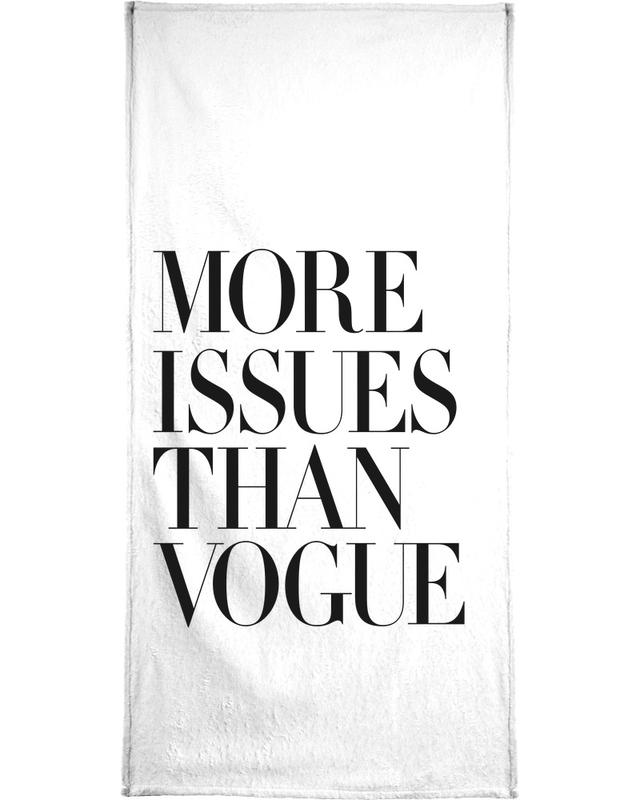 More Issues Than Vogue White Bath Towel