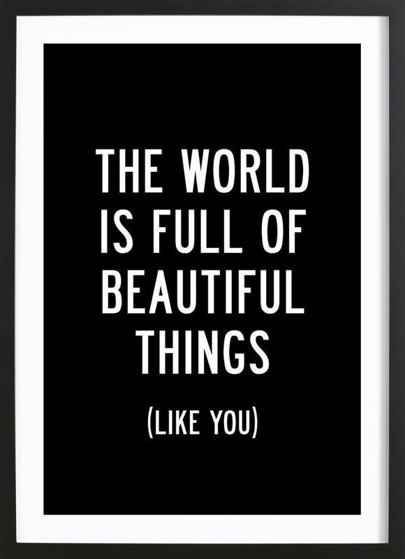 The World is Full of Beautiful Things ingelijste print