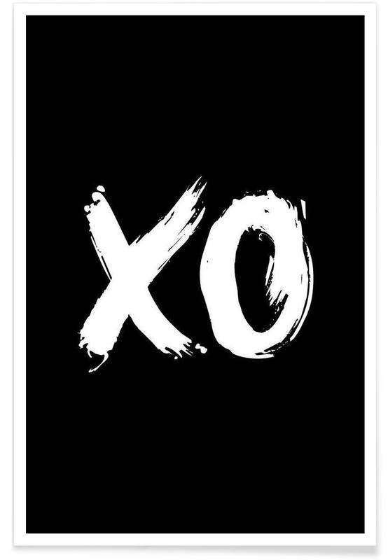 Alphabet & Buchstaben, Schwarz & Weiß, XO -Poster