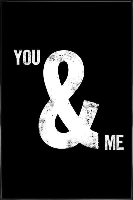 You and Me -Bild mit Kunststoffrahmen
