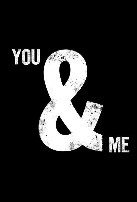 You and Me Aluminium Print