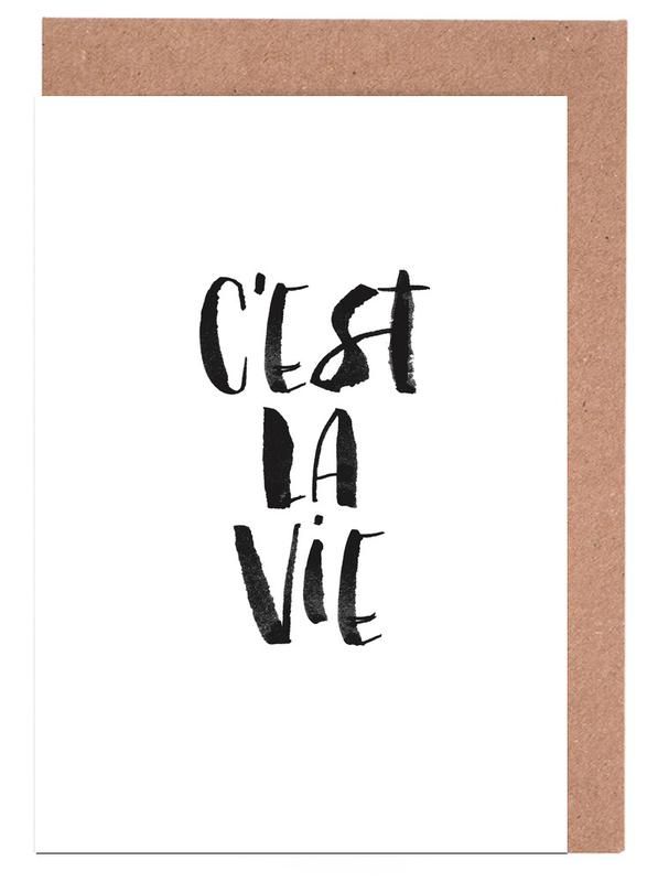 Cest La Vie Black cartes de vœux