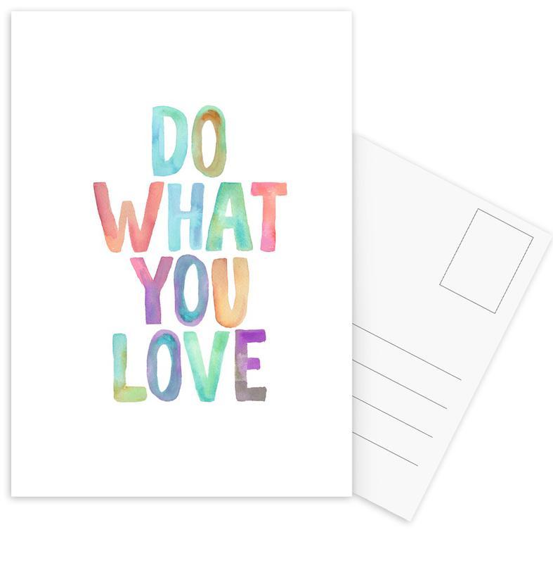Do What You Love Postcard Set