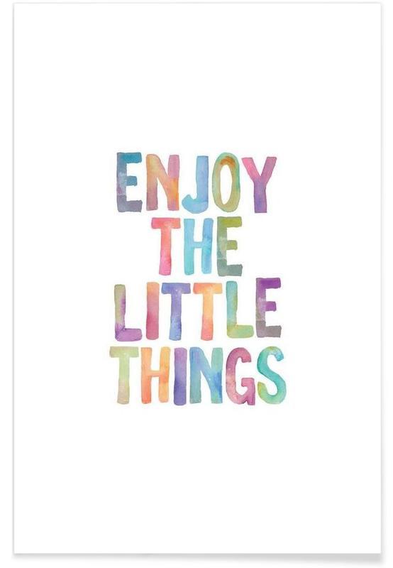 Motivatie, Quotes en slogans, Enjoy The Little Things poster