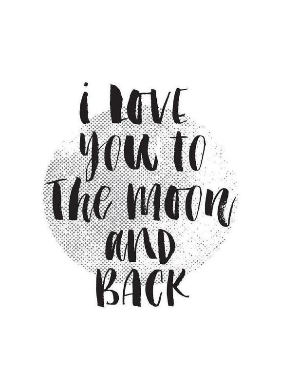 I Love You To The Moon And Back canvas doek