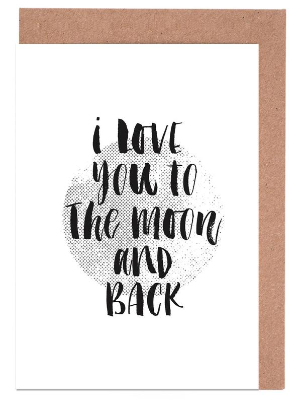 I Love You To The Moon And Back cartes de vœux
