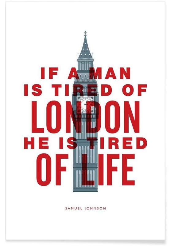 If A Man Is Tired Of London Poster
