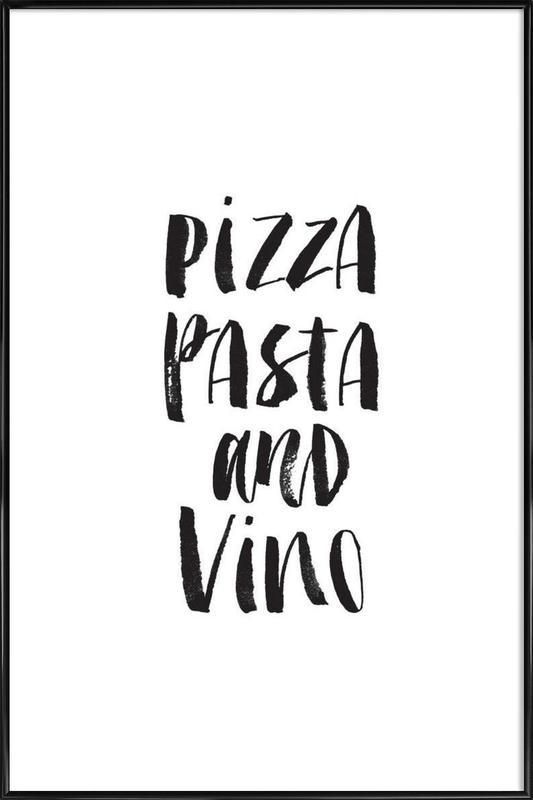 Pizza Pasta And Vino ingelijste poster