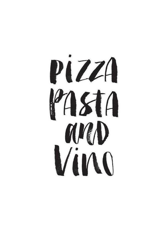 Pizza Pasta And Vino Canvastavla