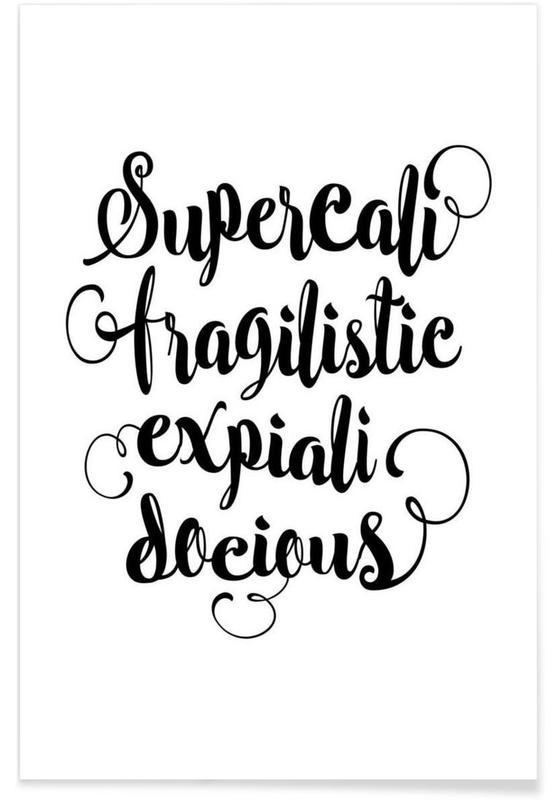 Lyrics, Movies, Black & White, Supercalifragilisticexpialidocious Poster
