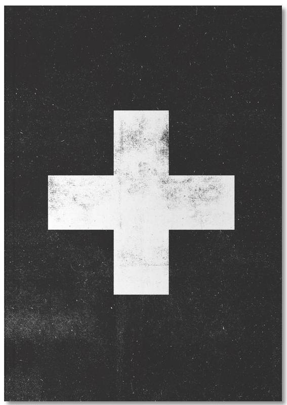 Swiss Cross Black Notebook