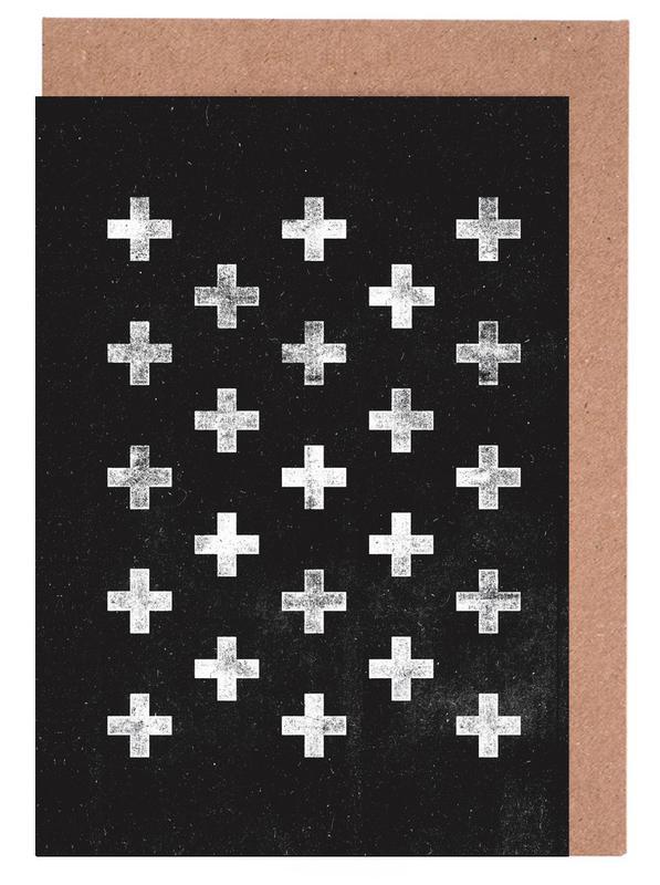 Swiss Cross Pattern Greeting Card Set