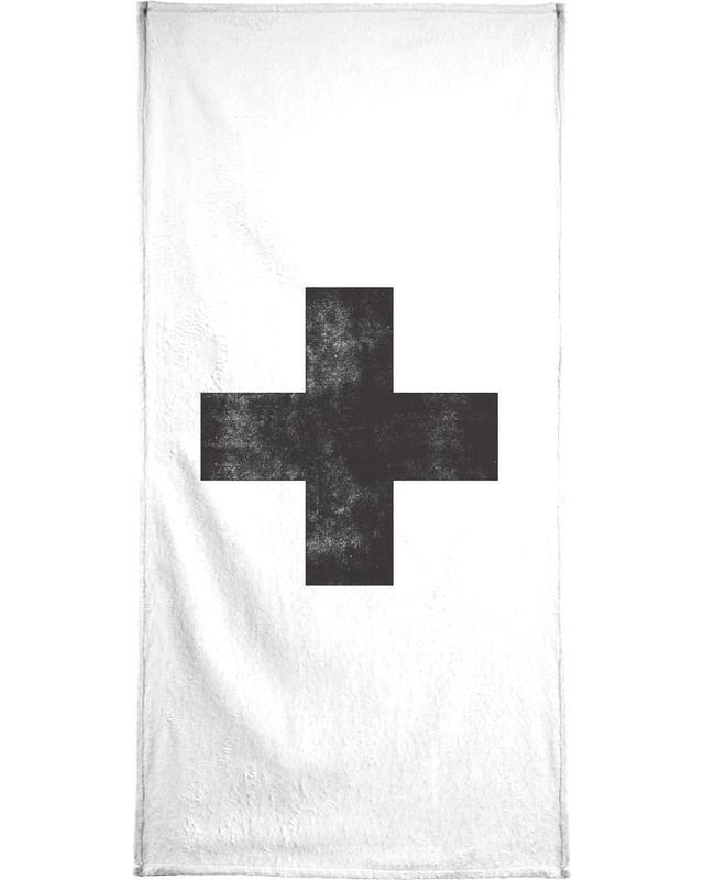 Schwarz & Weiß, Symbole, Swiss Cross White -Handtuch