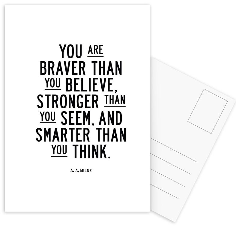 You Are Braver Than You Believe Postcard Set