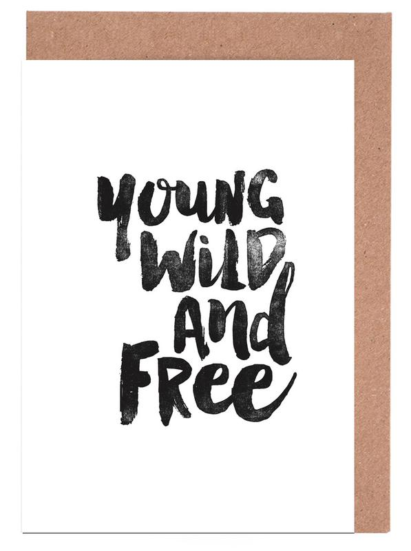 Young Wild And Free cartes de vœux