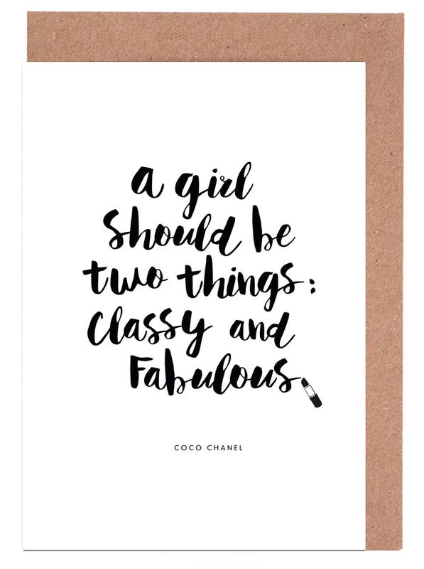A Girl Should Be Two Things cartes de vœux