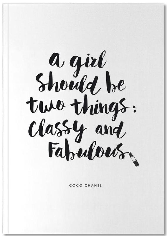 A Girl Should Be Two Things Notebook