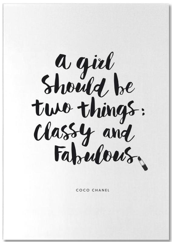 A Girl Should Be Two Things Notepad