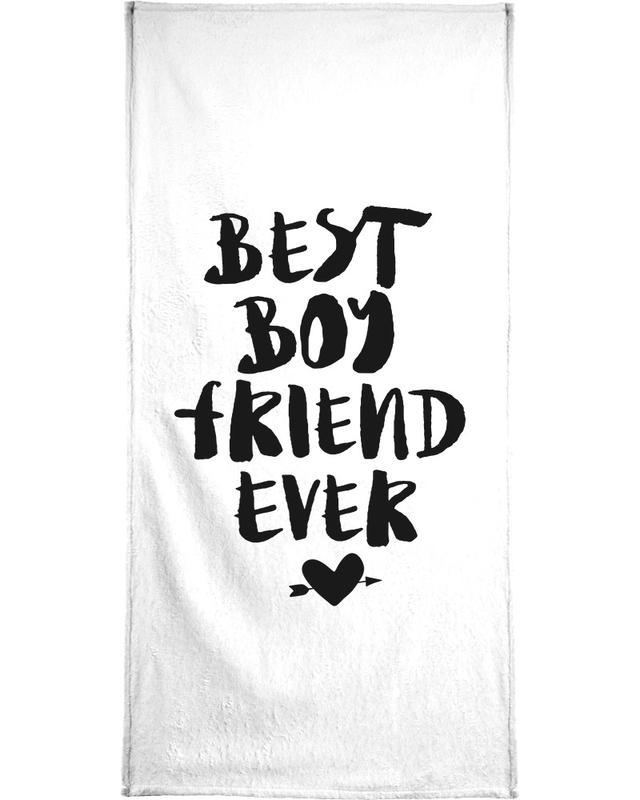 Best Boyfriend Ever serviette de bain