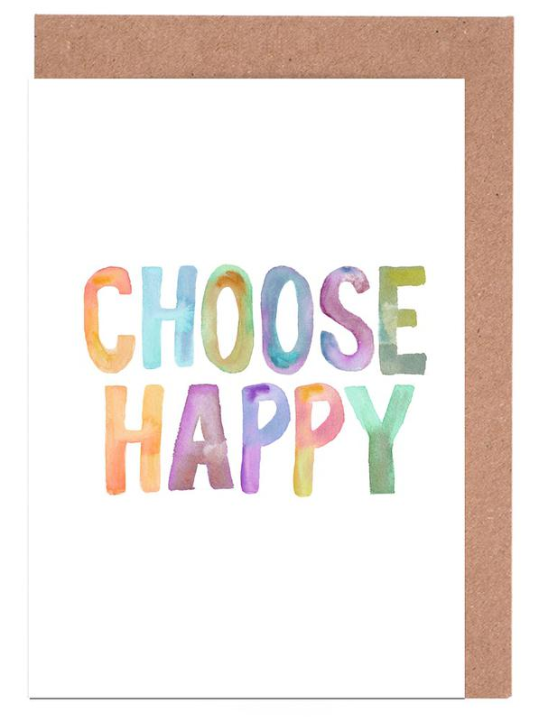 Choose Happy cartes de vœux